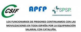los funcionarios de prisiones continuamos con las movilizaciones