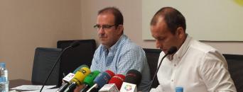 Ramón Caballero (izquierda) y Mario Gutiérrez, en la rueda de prensa realizada en la sede nacional de CSIF