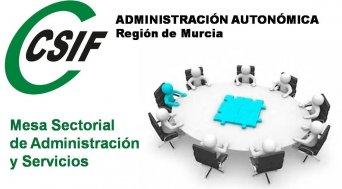 CSIF urge a la Función Pública para que convoque la Mesa Sectorial de Administración y Servicios