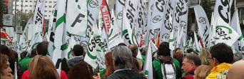 El 80% de los trabajadores de Justicia secundan la huelga general convocada hoy, la primera de los últimos 20 años