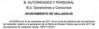 OEP Ayto Valladolid 2017