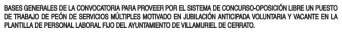 peón de servicios múltiples en Villamuriel de Cerrato