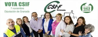 CSIF llama a participar a más de mil cuatrocientos profesionales de la Diputación de Granada en las próximas elecciones sindicales