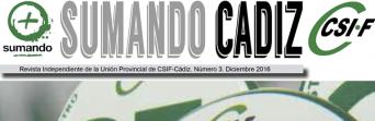 Portada número 3 revista Sumando Cádiz