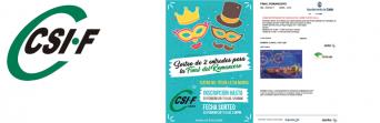 CSIF sortea dos entradas para la final de Romanceros del Carnaval de Cádiz