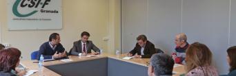 visita institucional a la sede provincial de CSIF
