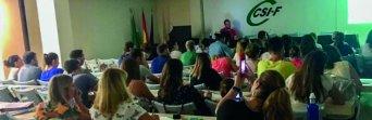 Momento de la reunión, en la sede de CSIF Málaga