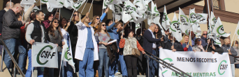 Momento de la protesta que protagonizaron los profesionales de Urgencias del Civil el pasado mes de noviembre.