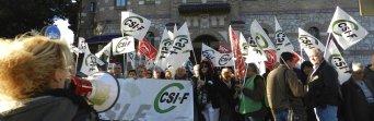 Protesta de CSIF en marzo de 2016 en defensa del personal de limpieza de la UMA