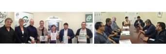Responsables de CSIF se reúnen con candidatos de Cs (foto izda) y PP (foto dcha) por Málaga