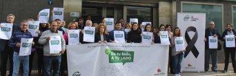Minuto de silencio en CSIF Málaga este lunes en rechazo a la violencia de género.