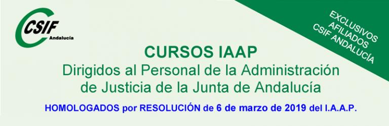 Cursos del IAAP para personal de Justicia (2º. cuatrimestre 2019)