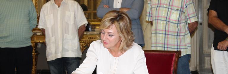Inma Aparisi, secretaria de la sección sindical de CSI·FCV en el Ayuntamiento de Valencia