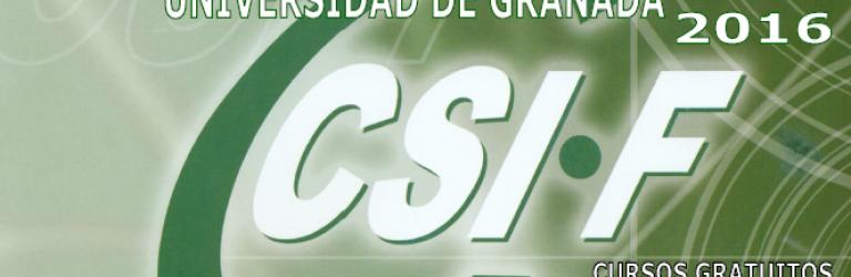 Cursos de Formación Continua, Universidad de Granada 2016