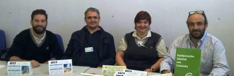 Delegados de CSIF y de APFP del centro penitenciario Murcia II de Campos del Río