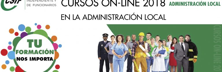 CURSOS ON-LINE CSIF 2018 - SECTOR NACIONAL ADMINISTRACIÓN LOCAL