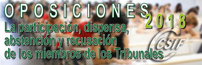 La participación, dispensa, abstención y recusación de los miembros de los órganos de selección del proceso selectivo 2018