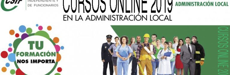 CURSOS ONLINE 2019 SECTOR NACIONAL DE ADM. LOCAL