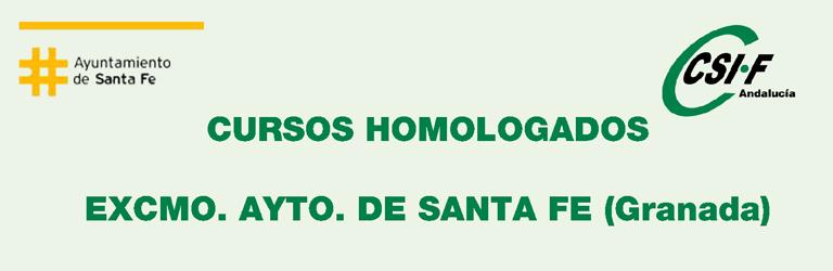 Cursos impartidos por CSIF y homologados por el Ayto. de Santa Fe