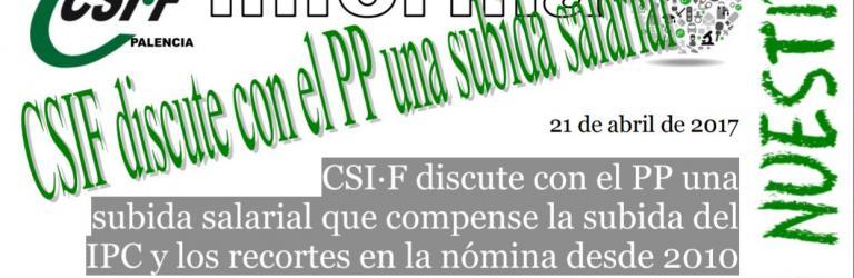 CSIF discute con el PP una subida salarial