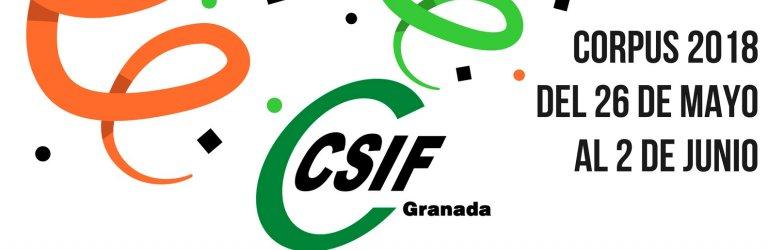 Ven a la caseta de CSIF Granada en el Corpus 2018