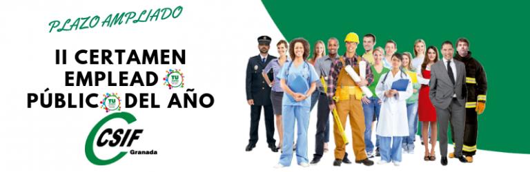 Plazo ampliado votaciones Empleado/a Público/a del Año Granada