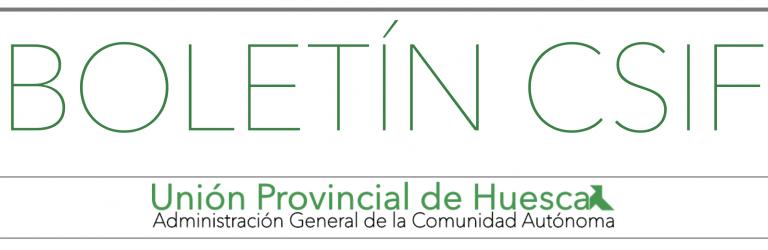 Boletín CSIF Huesca AGCA