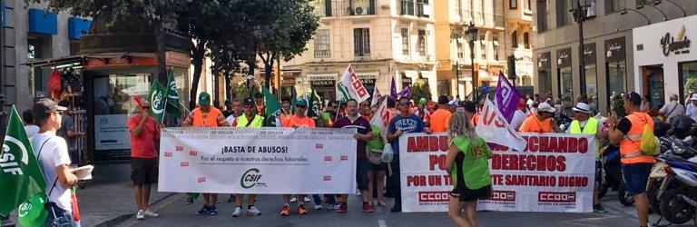 Manifestación de los trabajadores de ASM Málaga - 28/08/2019