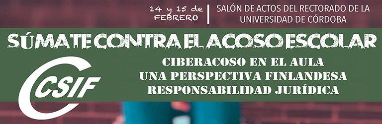 Córdoba - Jornadas contra el Acoso Escolar