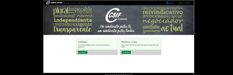 CSIF Andalucía estrena nuevo Campus Virtual