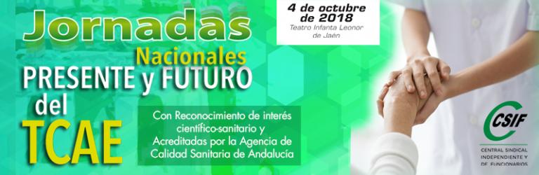 """Jornadas Nacionales """"Presente y futuro del TCAE""""   CSIF Sanidad Andalucía"""